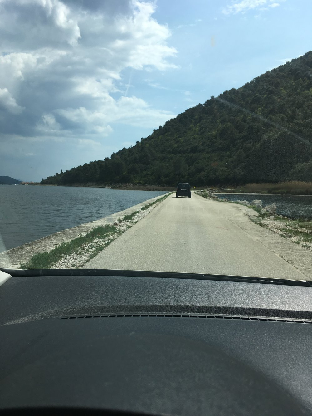 Following my Airbnb host from Ston to his house on Broce, on the Peljasač peninsula