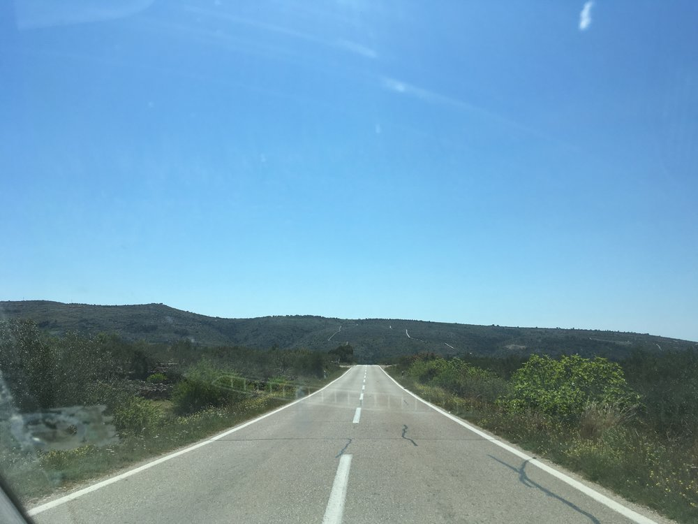 Open driving across Brač