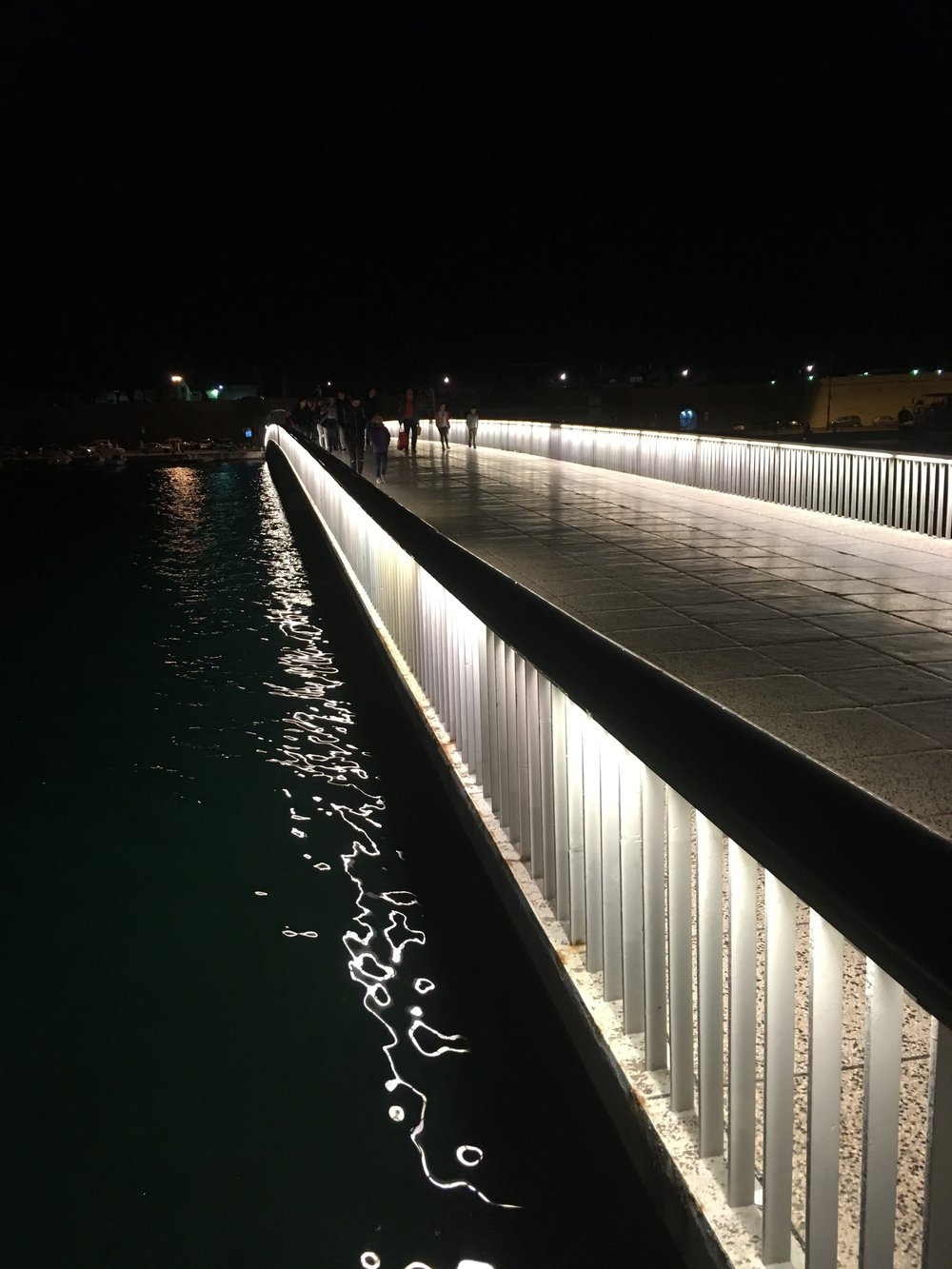Pedestrian bridge leading into Zadar's Old Town
