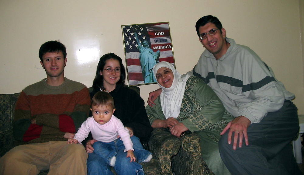 Proof that there are Muslims of all political persuasions. This precious family bravely hung that poster in their house (inside where no one could see it) in the early months after the US-led invasion of Iraq (full disclosure: these guys were of Kurdish extraction). (Damascus, Syria; 2003)