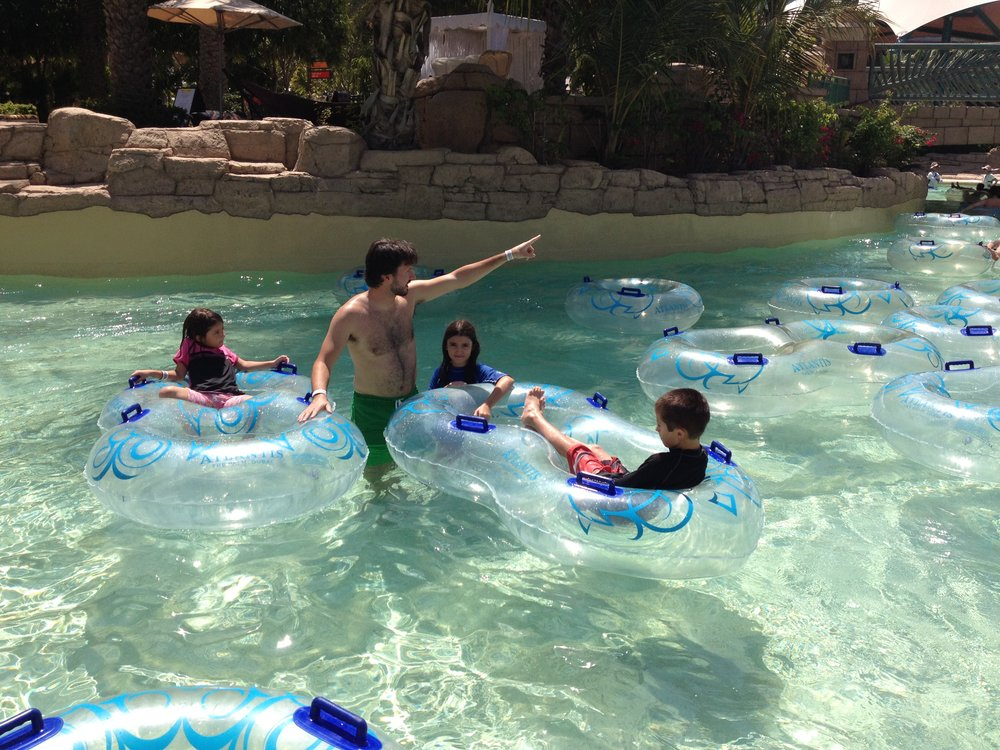 My kids are pretty spoiled when it comes to water parks, not like Abu Halen, who had to walk eight miles, uphill both ways, through the snow, to get to water parks back in his day. (Dubai, UAE; Apr 2014)