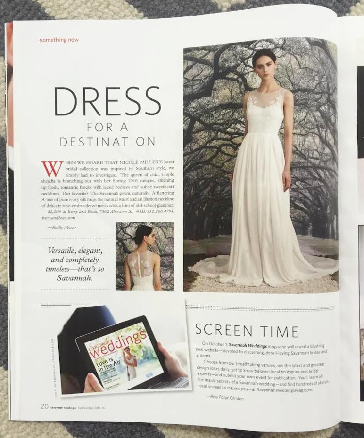 Savannah Weddings Magazine Fall Winter 2015 2016 Ivory