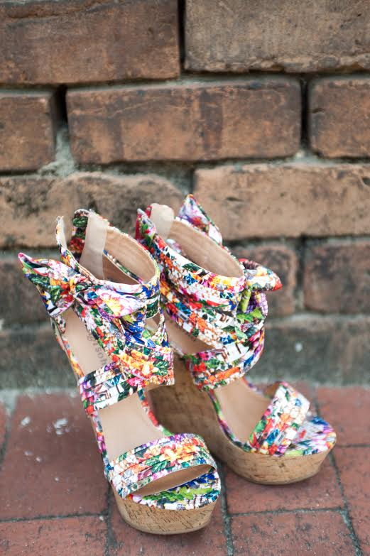 If your wedding is filled with every color of the rainbow like  Michelle and Johnny's  at  Old Fort Jackson  was, then it only makes sense that your wedding shoes are a conglomerate of all the colors with a touch of playful and fun.