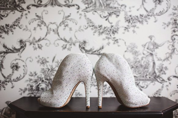 Daniela , oh Daniela. Most glamorous and fabulous bride of them all. Rocked these glittery sparkly stilettos like it ain't no thang. For a bride who loves to make a statement but still wants to be a little bit traditional keeping it white then why not find some bedazzled stunners?