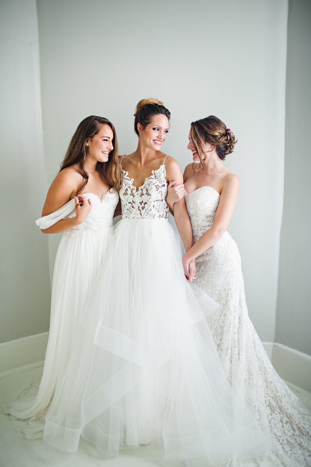 We just got back the images from our Bridal Lookbook 3.0 and we are so in love with the gorgeous images by Izzy Hudgins Photography!!! The shoot features several of our newest gowns and was taken at Studio Share Savannah. Cannot wait to share all the prettiness of this. Dresses from left: Sarah Seven, Blush by Hayley Paige, Ti Adora all available now.