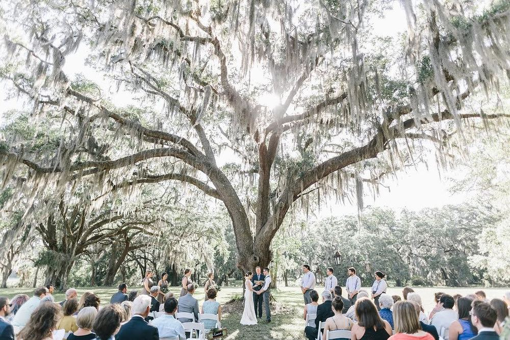 Ember & Adam's magical wedding at Dunham Farms was so seriously dreamy. Mackensey Alexander captured this wedding and I didn't even know it was possible but she made it look even more magical. Spanish oaks, moss, a plantation, so much gorgeousness and the sweetest couple!