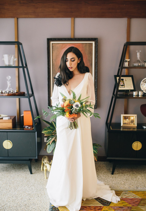 I Love The Pretty Florals By Gray Harper Event Maker With Bold Ferns And Bright Pops Of Color Everything Fit So Perfectly Theme
