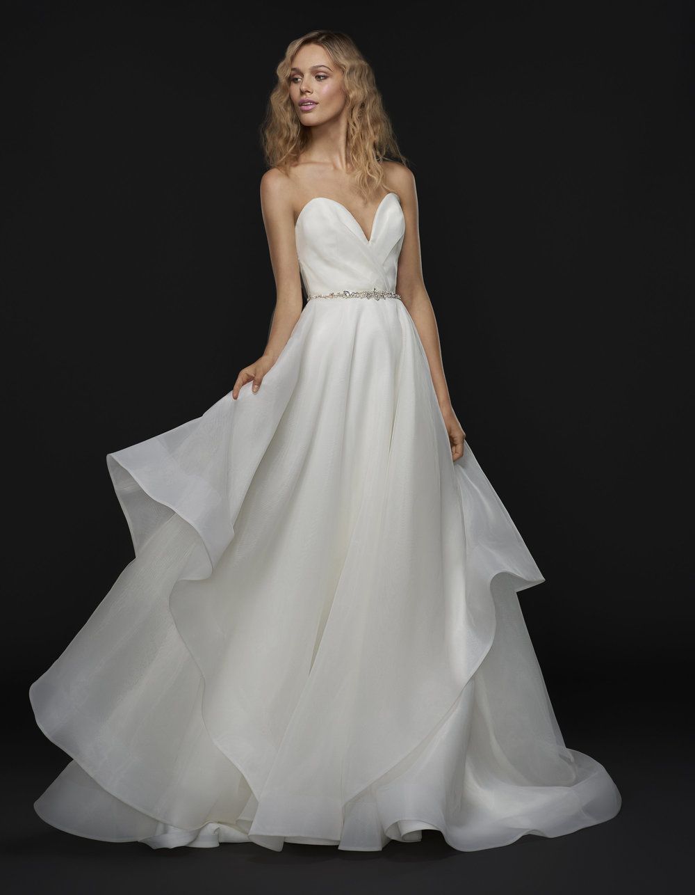 Meet Kingston: airy, classic, timeless. Of all the dresses from the newest collection, this dress is for that girl that loves HP but wants to wear a dress that will be forever loved. With it's timeless perfectly sweet silhouette, soft organza and sweetheart neckline this gown is for the Southern belle who wants to be an everlasting beauty.