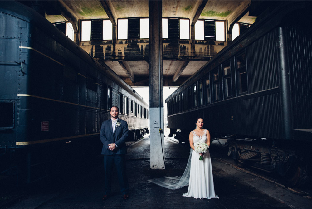 CAROLINE'S MOODY JEWEL TONE RAILROAD MUSEUM WEDDING
