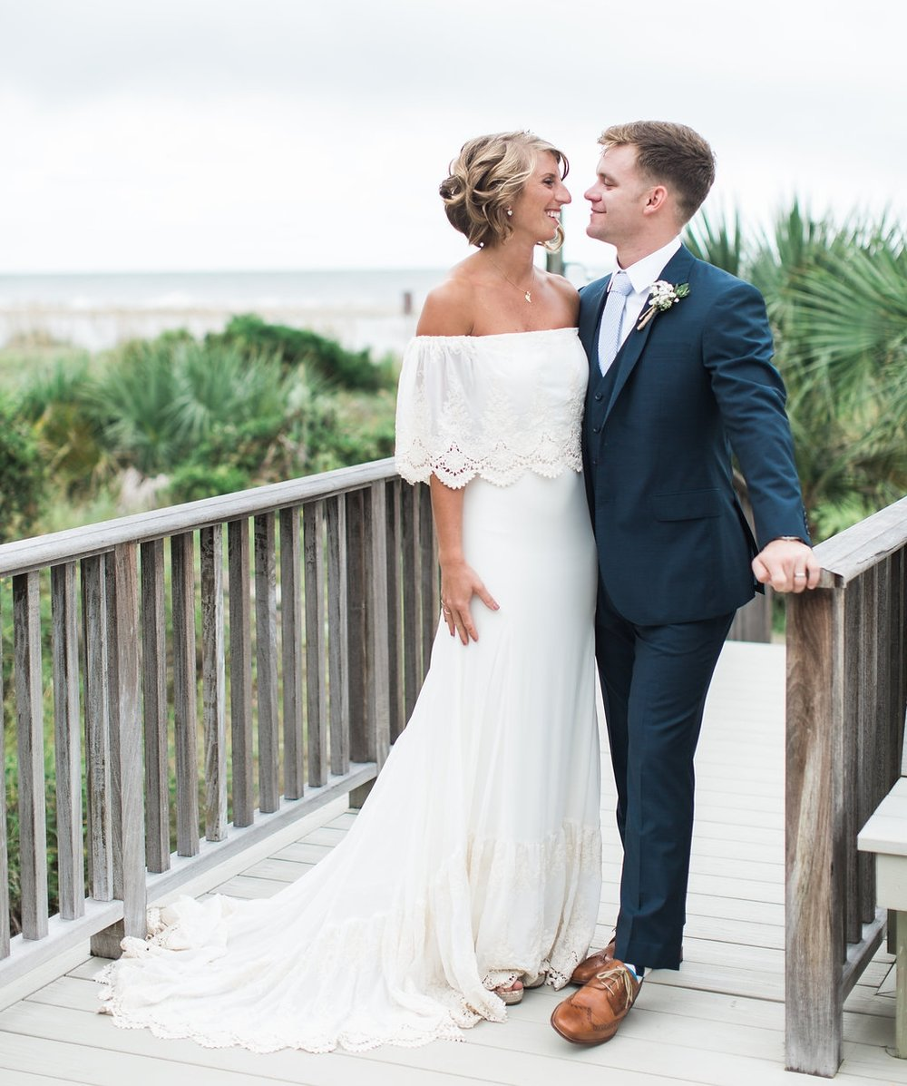 STACEY'S BOHEMIAN TYBEE ISLAND BEACH WEDDING