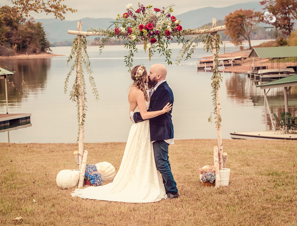 DONIELLE'S BOHO WOODLAND LAKE FRONT WEDDING
