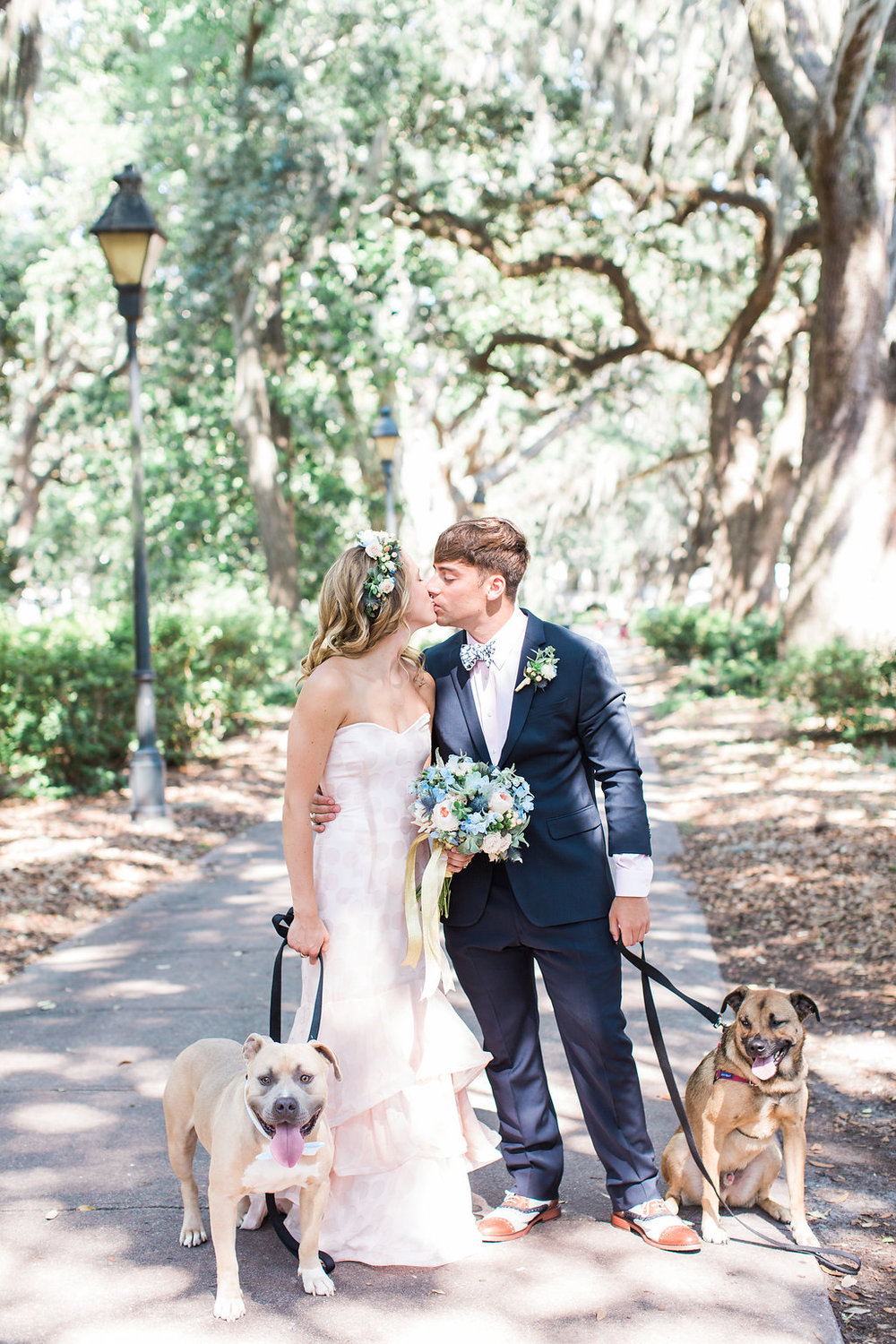 EVE'S PLAYFUL PINK POLKA DOT & HARRY POTTER WEDDING WITH PUPS