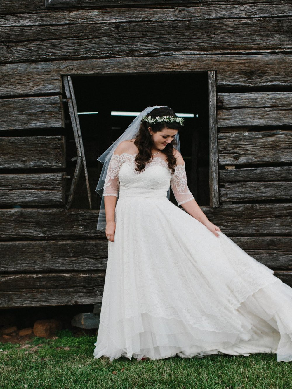 Whitley  was one of the sweetest brides and I loved the unusual combination we helped her fall in love with. If you look super closely you can see that her gown was entirely lace and it was insta-love when paired with a lace topper. Because too much lace is never too much / photo:  Zachary Taylor