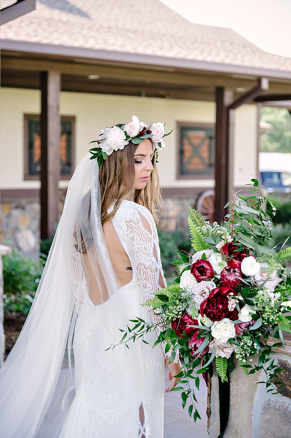LAUREN'S RUSTIC BURGUNDY BOHO WEDDING AT THE FARM AT RIDGEWAY