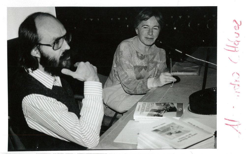 Con Ana María Cetto.