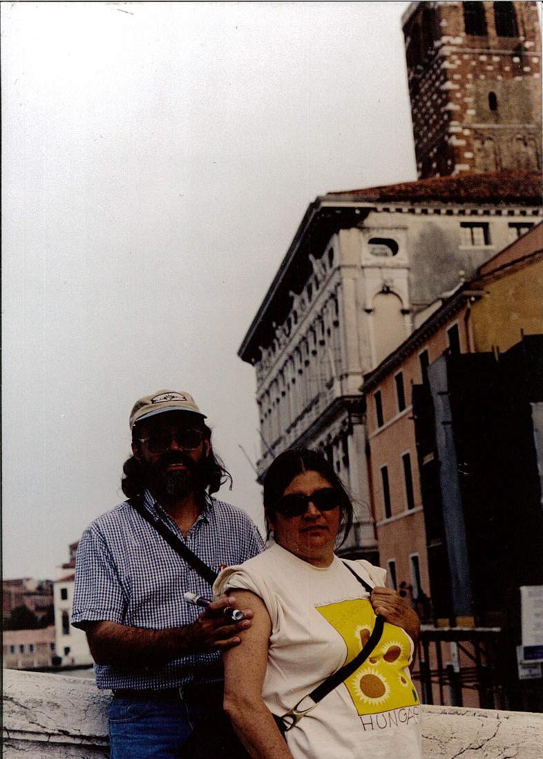 Con María Eugenia.