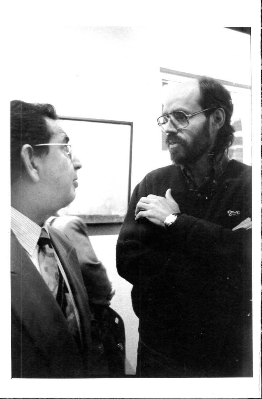 Con el pintor José Lazcarro.