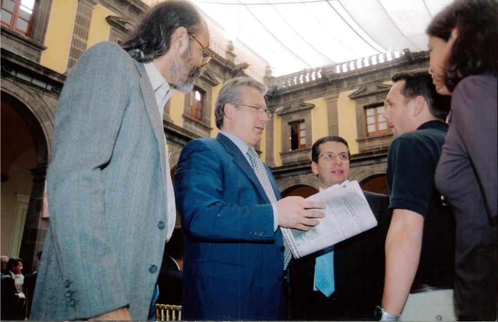 Con el juez Baltazar Garzón.