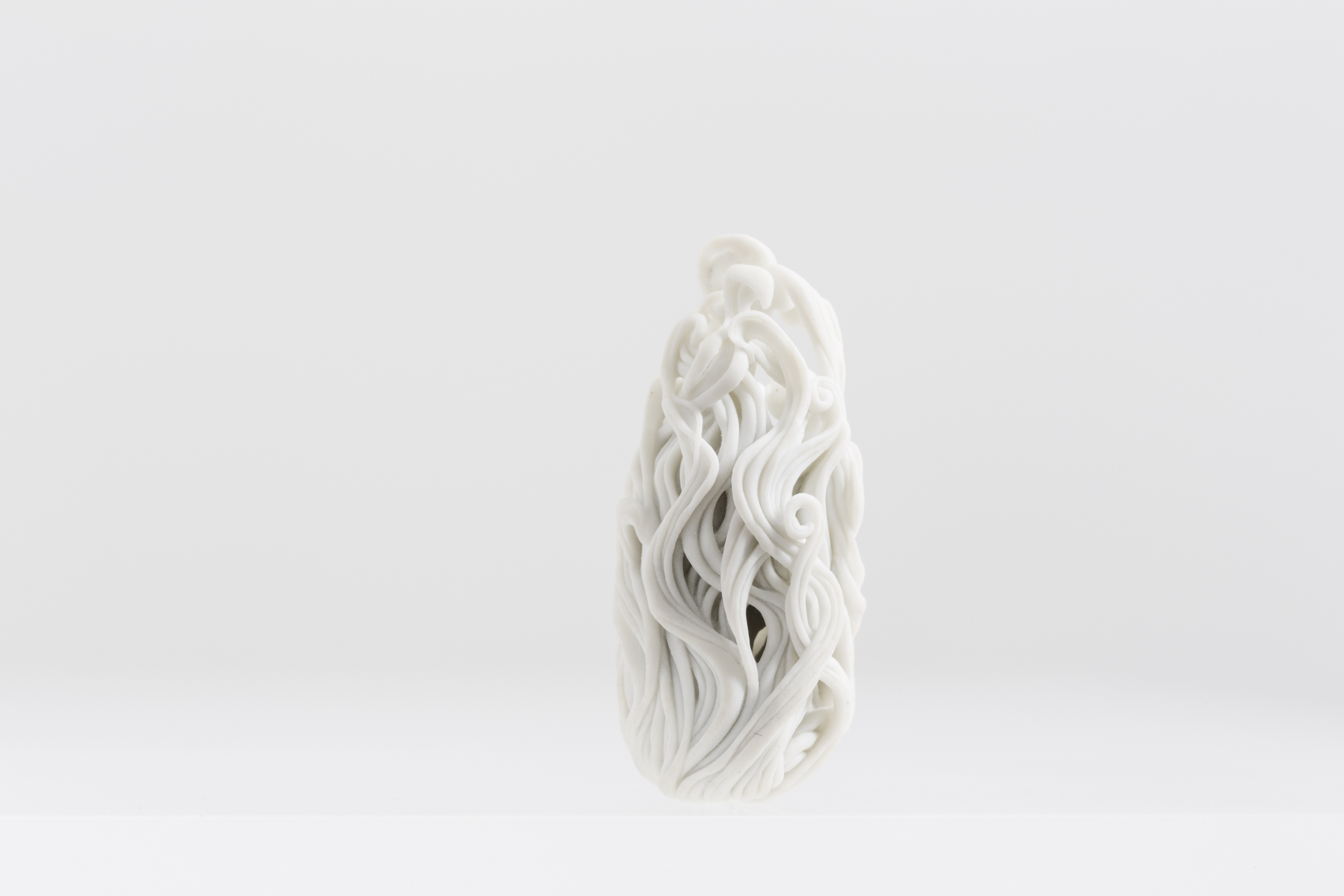 Of beauty reminiscing Carved porcelain, 2015