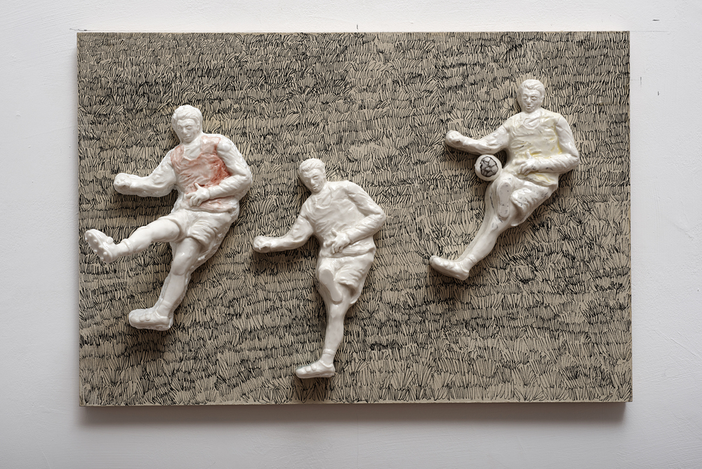 SunAeKIM_Pardon Me there is a football game today_Porcelain_Mixed Media_2014 copy.jpg