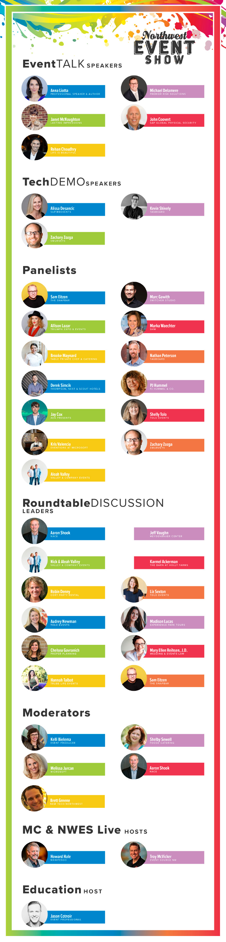 Download pdf of Speakers, Moderators & Hosts by clicking on graphic.