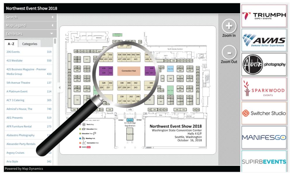 Map-Dynamics Show Floor Plan