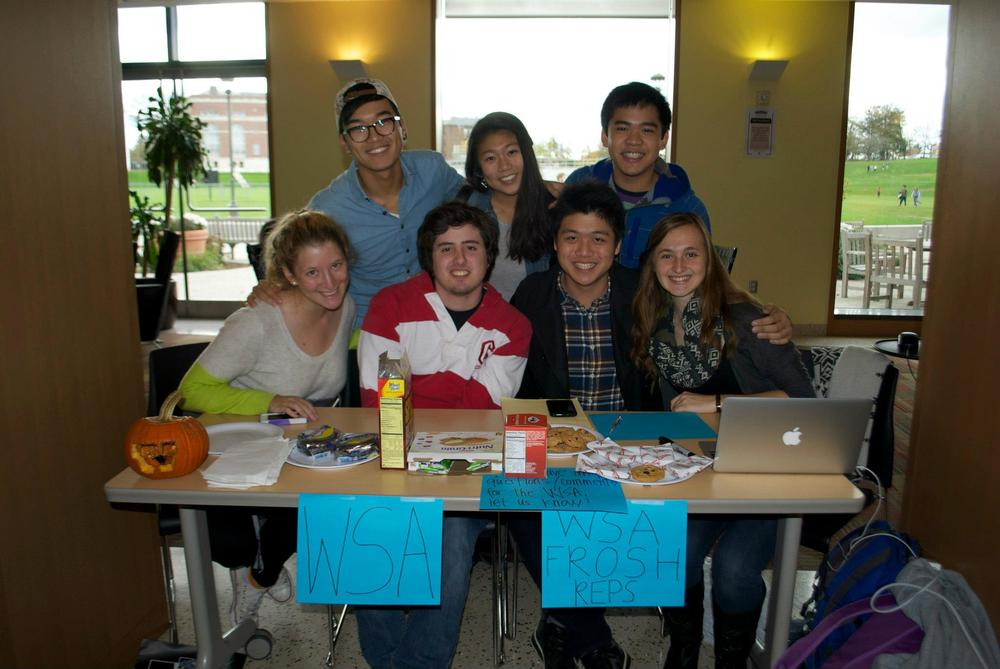 #TBT: WSA Frosh Reps table at Usdan back in 2012.