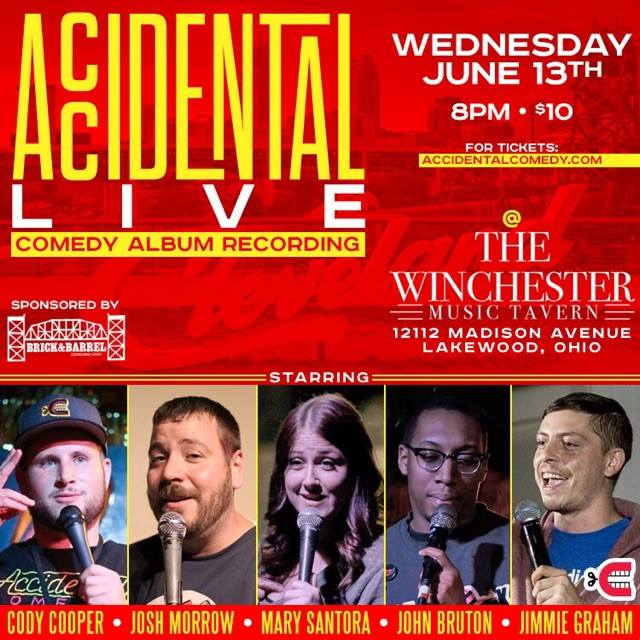 Admission is only $10 at the door, or if you RSVP to accidentalcomedyclub@gmail.com, you can get 4 tickets for $20!