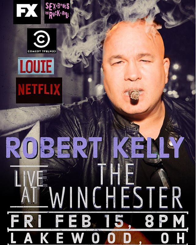 Stoked to be hosting @robertkellylive tonight @thewinchesterbar_  I think there's a few tix left. You don't wanna miss this one.