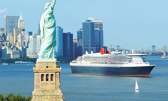 "CUNARD                                                                                                          Set sail on the ""Queens"""