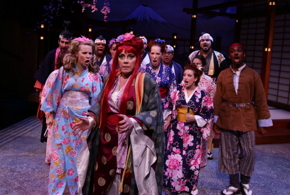 "with the cast of Lyric Stage Company's ""The Mikado"""
