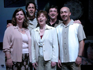 "with the cast of SpeakEasy Stage Company's ""Elegies"""