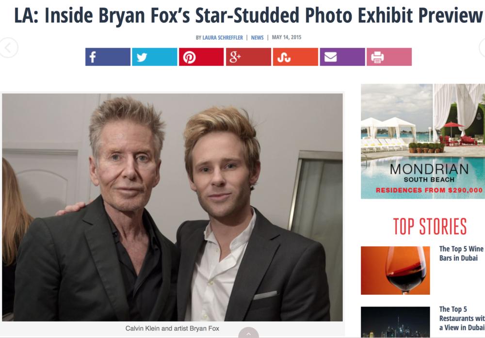HAUTE LIVING: LA: Inside Bryan Fox's Star-Studded Photo Exhibit Preview