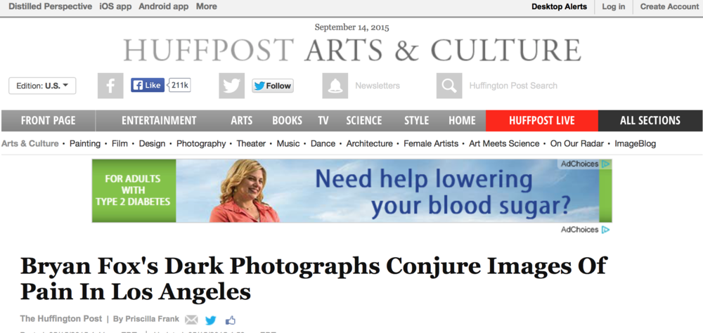 The Huffington Post: Bryan Fox's Dark Photographs Conjure Images Of Pain In Los Angeles