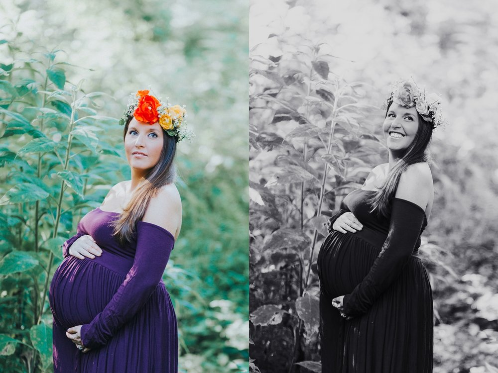 Maternity photos outside