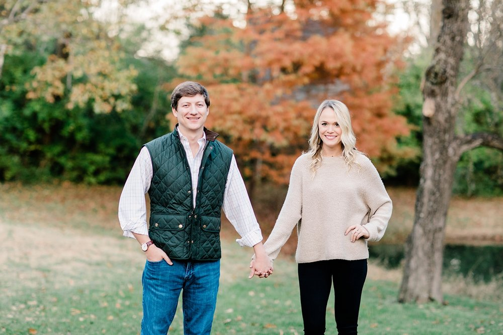 Brentwood, Tennessee Classic Fall Engagement Session | Amy Allmand photography