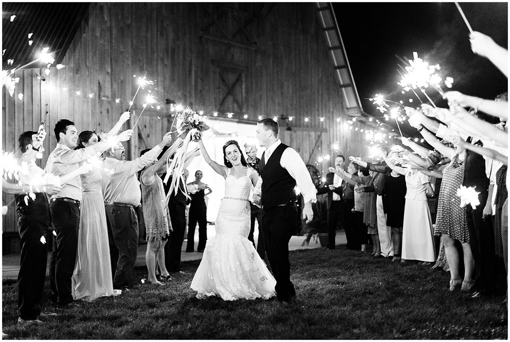 Franklin Tennessee photographer | Southern Sparkler Exit | Amy Allmand photography