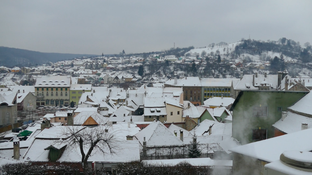 The view of Sighisoara from any of the hills surrounding it is like something out of a medieval children's book