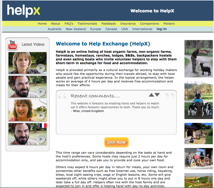 HelpX is one of the biggest hacks we use on the road
