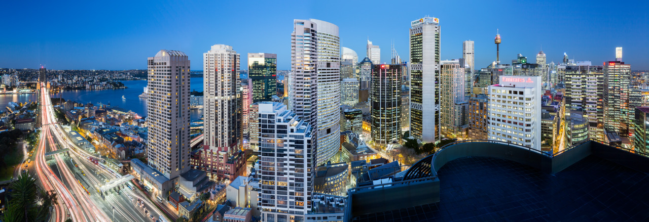Dusk panorama for 259 George St