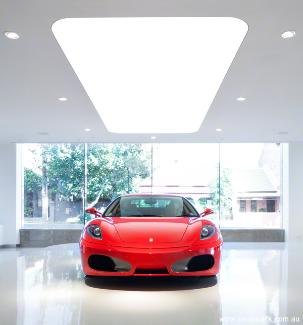 Ferrari showroom interiors shoot for Built