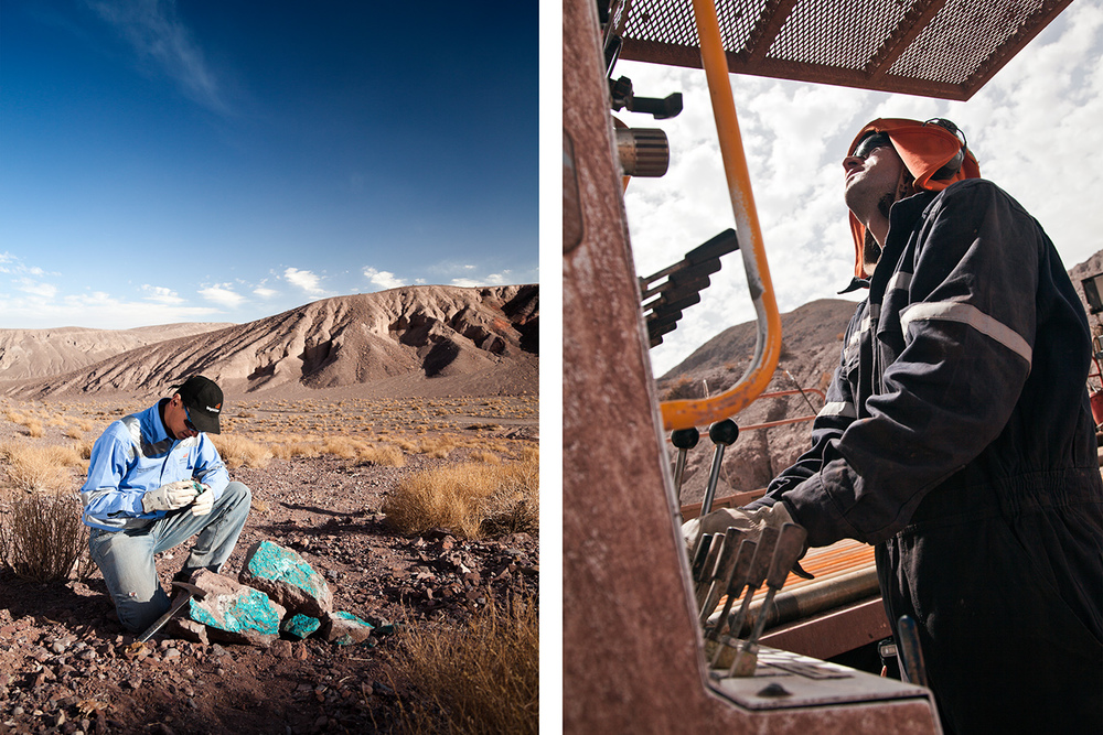 MINERAL EXPLORATION (MINEX) FOR BHP BILLITON, ATACAMA DESERT, CHILE