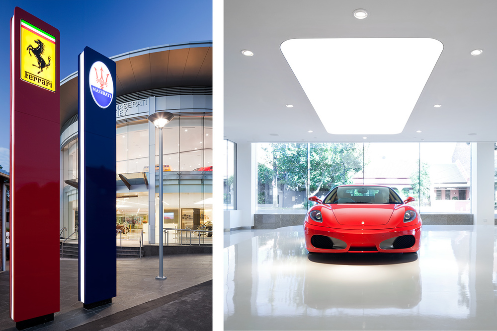 FERRARI SHOWROOM FOR BUILT
