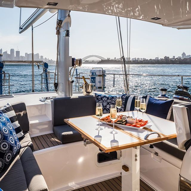 Lunch anyone... Serenity for Anyboat.  #serenitysailing #anyboat #amelyachts #maritimephotography #maritimephotographer #sydneyharbour #lunchtime #luxe #carluseaver #sailingboat #superyacht #boatphotography
