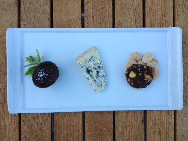 Goat Cheese Truffle, Blue Cheese, Chocolate Salami