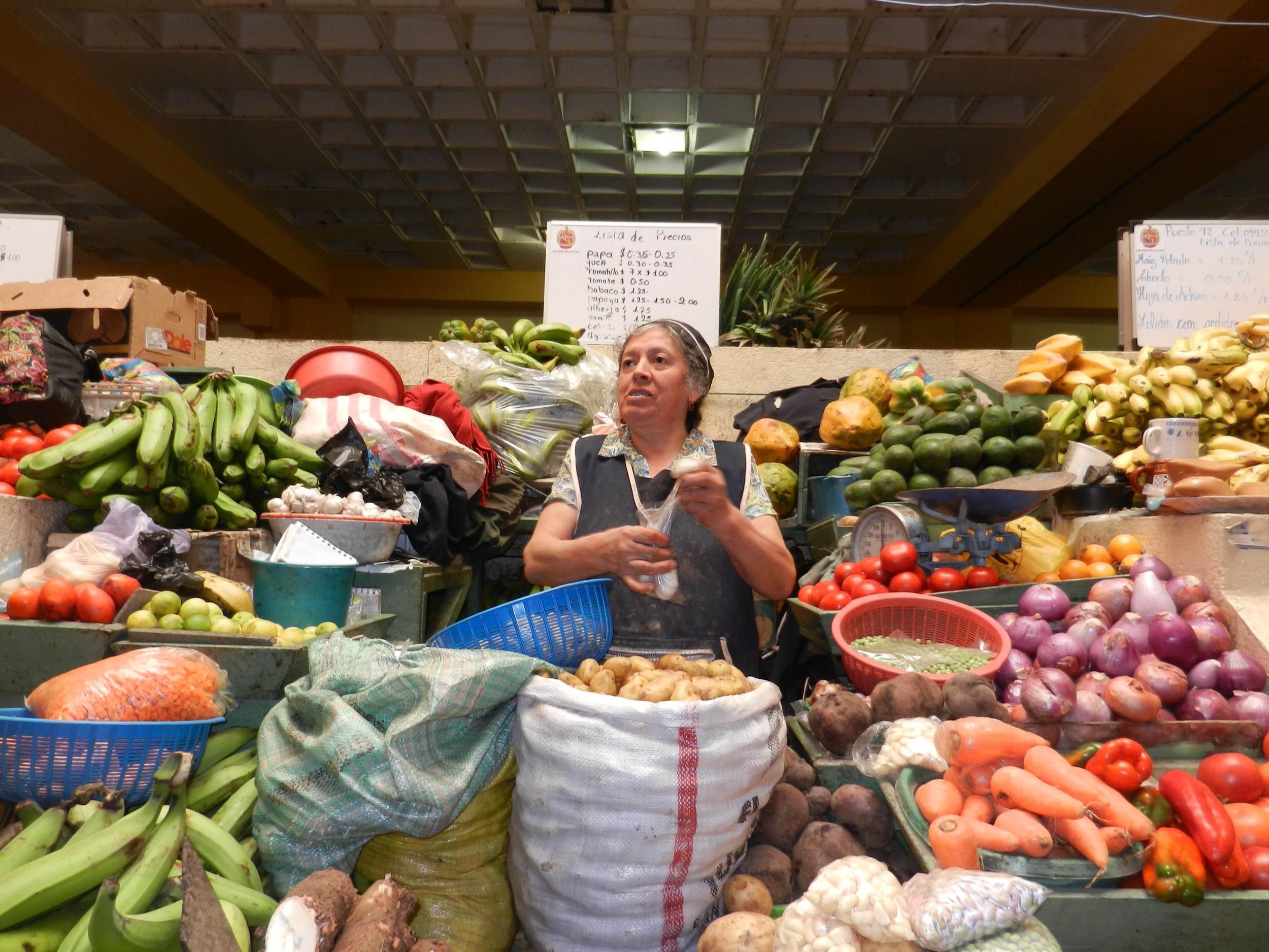 The Market in Loja, Ecuador