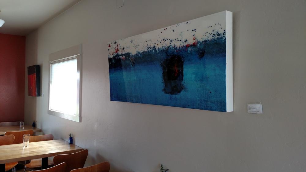 Doug McIntosh Photograph on canvas with resin.