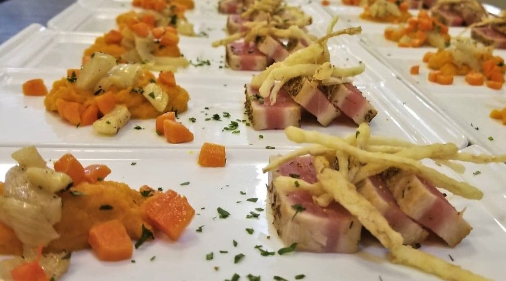 Fennel Pollen Crusted Seared Tuna