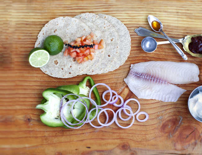 Tilapia Tacos with Pickled Salsa and Chipotle Sauce