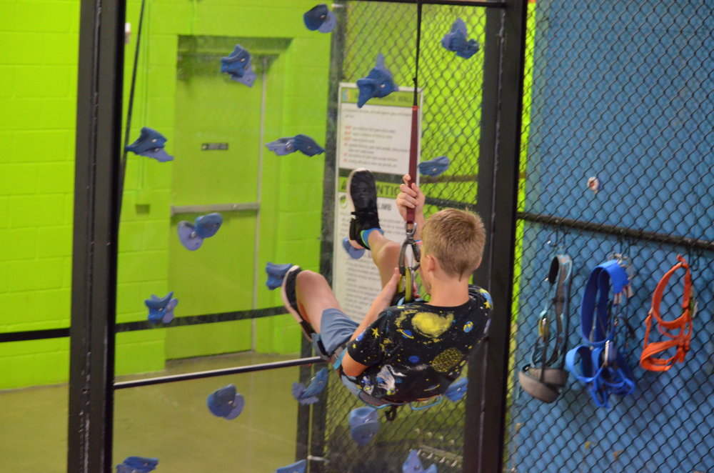 Rock wall climbing for all skill levels.